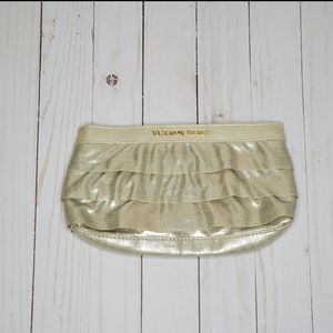 Victoria's Secret Gold Ruffle Clutch